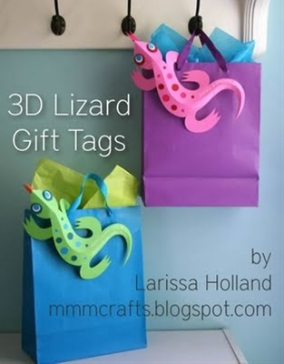 lizard paper craft