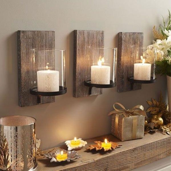 Scrap wood candle