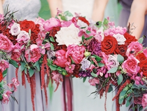 Berry Colored Oahu Wedding