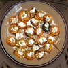 Stuffed Grilled Apricots With Goat Cheese, Pistachios, and Balsamic
