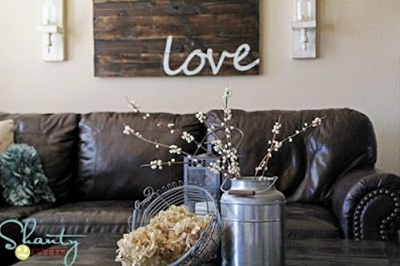 rustic home decor! Gorgeous! looking for milk cans at garage sales this summer...