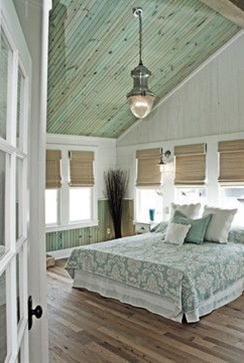 Town & Country Living. Love the beadboard; possible idea for my bath redo?
