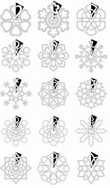How to cut paper snowflakes/ como cortar copos de nieve de papel