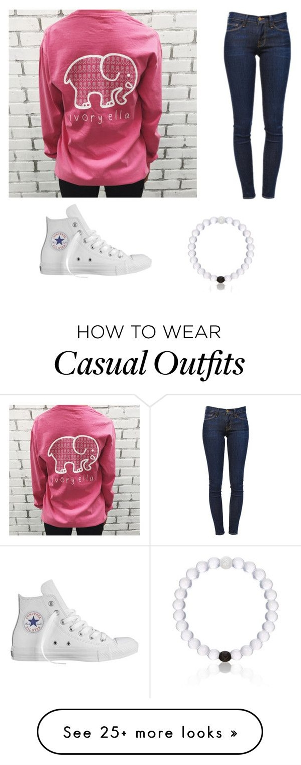 """Casual outfits"" by alliebennett599 on Polyvore featuring moda, Frame Denim, Converse y Everest"