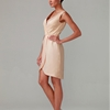 Sheath/Column V-Neck Chiffon dress with Pleats