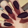 All Black Everything #nails #acrylics #claws #matte #black #hands #points #