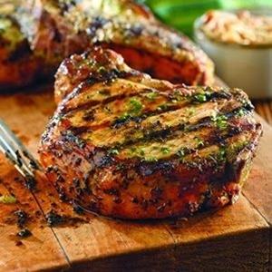 Ingredients: 4 bone-in pork loin chops, 3/4-inch thick, 2 garlic ...