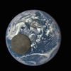 A NASA camera caught the Moon photobombing Earth.