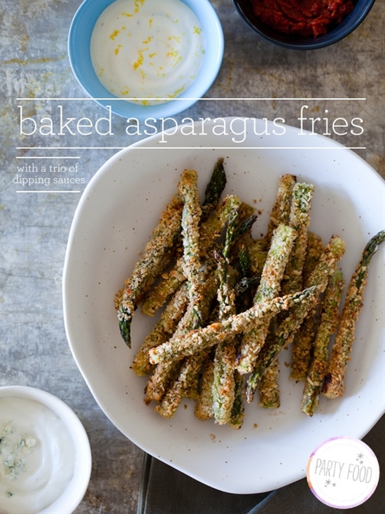 Baked Asparagus Fries / Spoon Fork Bacon