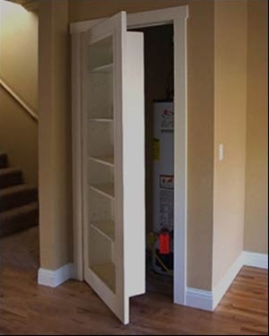 door...bookshelf - brilliant idea!