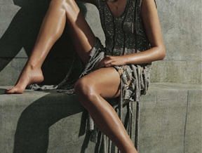 Bette Franke is a Metallic Goddess for S Moda Spread by David Roemer