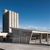 Folded concrete canopy shelters Spanish bus station by Ismo Arquitectura