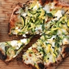 Pizza With Zucchini, Feta, Lemon, and Garlic