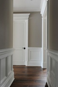 Lakeshore traditional: (wainscot & paint color ideas). http://www.houzz.com/photos/3001848/Lakeshore-traditional-toronto