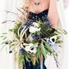 Galactic Wedding with a Navy Bridal Gown