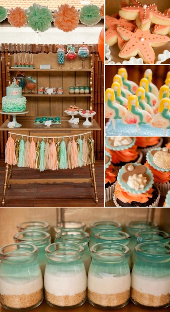 Love the jello jars! via Kara's Party ideas.