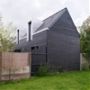 House Between the Two extension by Clément Bacle mirrors original house