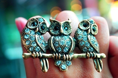 Owl trio ring
