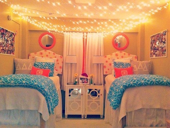 The lights and tables for girls' room!