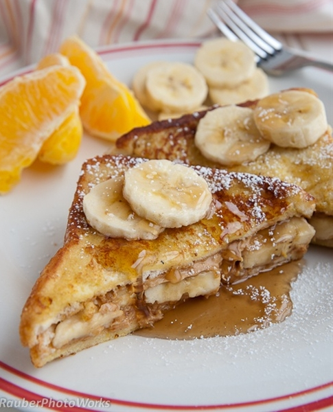 Peanut Butter Banana French Toast  trying this right now!