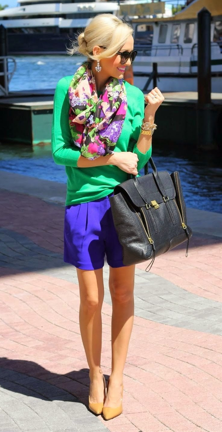such a cute spring outfit. i am a sucker for cobalt blue anything.