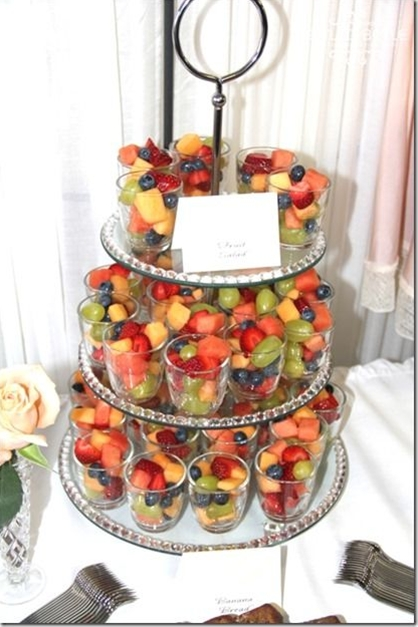 Fruitcups: melon, strawberries,grapes, blueberries, strawberries.