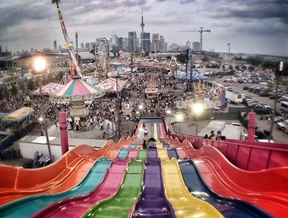 Slip, slidin' away…..The Ex (Canadian National Exhibition), from...
