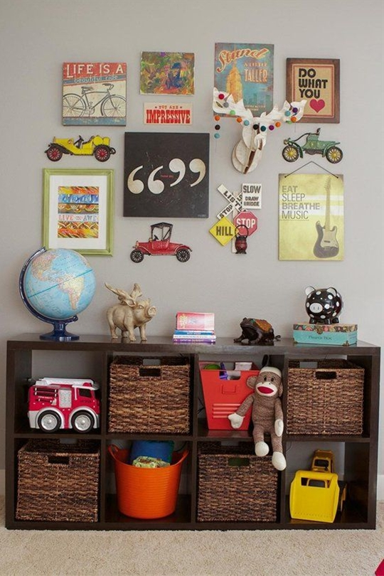 """For our son's """"Big Boy"""" room, we wanted an eclectic mix of old and new. We scoured our local antique shops for stuff that screamed """"All Boy!"""" to us.   We mixed our flea market finds with some Etsy goodies, handmade items, and modern items to make the perfect blend we were looking for!"""