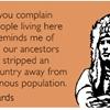 Indigenous indignity.