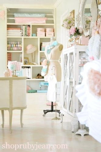 boutique-inspired sewing room makeover