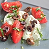 Tomato-Burrata Salad With Olives, Lemon Zest, and Basil
