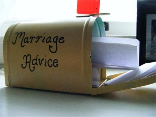 "This is a really cute idea that everybody is sure to love. Pick up a tin mailbox at a thrift store and scrawl ""marriage advice"" on the side. You can place this out by your guest book, OR you can wait until the liquor starts flowing to put it out -- you'll get some helpful and kooky pieces of advice to enjoy after the reception."