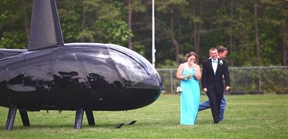 World's best prom date arrives at school like they beat 'Grand Theft Auto.'
