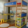 How to add a study area under the KURA loft bed