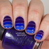 Royal blue paint swatches for today's Beauty Buffs post!