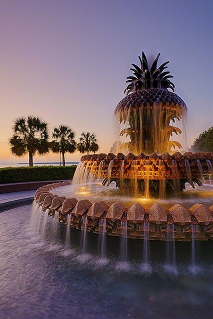 Pineapple Fountain Charleston, SC