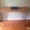 Bamboo and steel: IKEA HILVER standing desk