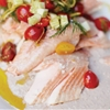 Grilled King Salmon With Walnut Tarator and Cherry Tomato Salad From 'A Boat, a Whale & a Walrus'