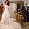 Amal Alamuddin at Wedding Gown Fitting with Oscar de la Renta