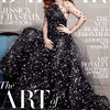 Jessica Chastain Covers Harper's Bazaar UK November 2014 in Armani Privé