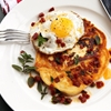Chorizo and Halloumi Pancakes With Fried Eggs