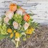 Rustic Navy and Peach Wedding