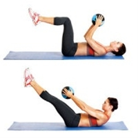 Flat-Ab Pilates Workout. Easy at home workout, all you need is a pilates ball!