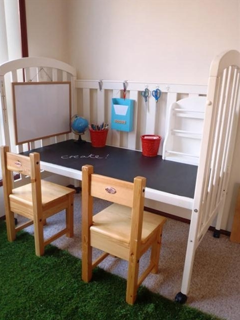 Wow! Many genius up-cycling ideas for recalled cribs and crib parts.