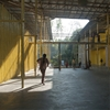 Bamboo-framed canopy shades Kolkata community centre by Schilder Scholte