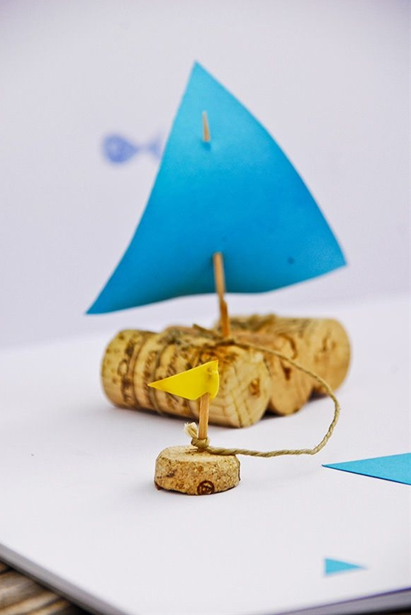 DIY tiny cork sailboat