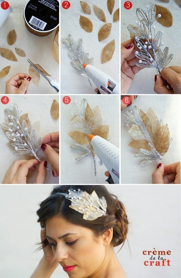 how to make Bridal Headband step by step