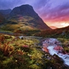 Fire in the GlenGlencoe Pass, Glencoe, Argyll & Bute,...