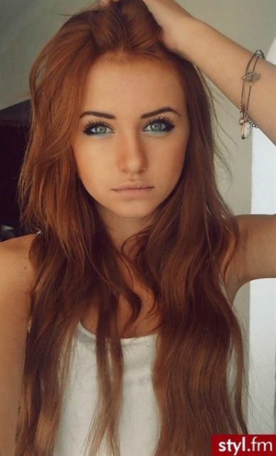 I feel as though I am slightly desperate to be a ginger in life... I love this color hair.