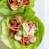 Tuna Lettuce Wrap with Avocado Yogurt Dressing